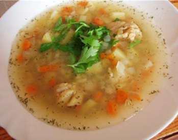 Суп для детей с вермишелью
