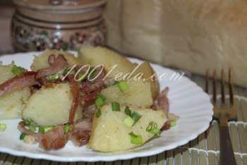 Ароматный картофель с ветчиной и луком: рецепт с пошаговым фото