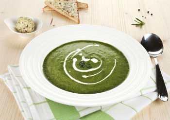 Суп-пюре со шпинатом и сливками