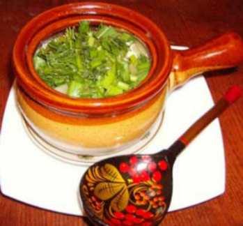 Суп в горшочках с фаршем