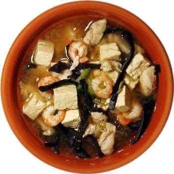 Китайский суп с тофу