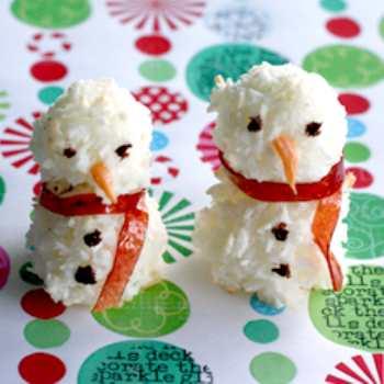 Крабовая закуска Снеговик