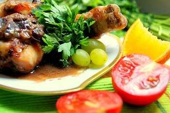 Куриные ножки под медово-сливовым соусом: рецепт с пошаговым фото