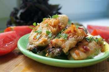 Куриные крылья с чесноком: рецепт с пошаговым фото
