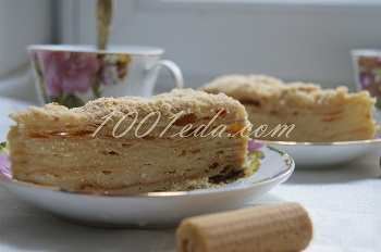 """Торт """"Простой Наполеон"""": рецепт с пошаговым фото"""