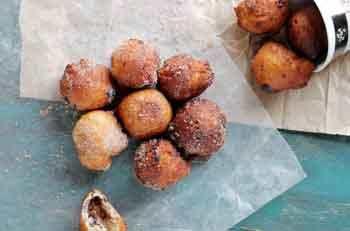 Бездрожжевые пончики с вареньем