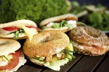 Бутерброды из бубликов