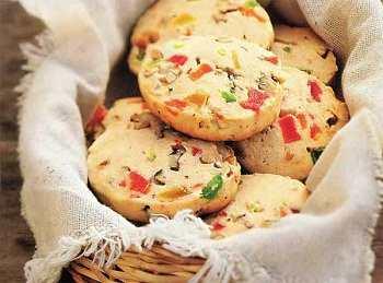 Цитрусовое печенье с миндалем