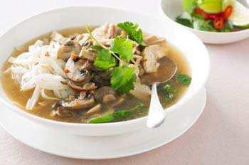 Грибной суп из шампиньонов с лапшой и курицей