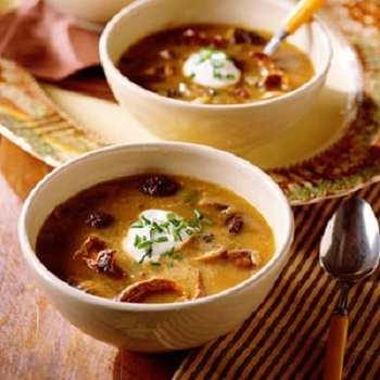 Грибной суп с белыми грибами