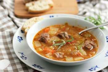 Капустный суп с бараниной