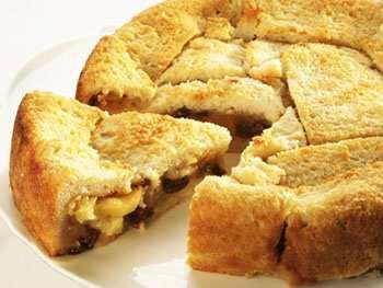 Классическая шарлотка с хлебом