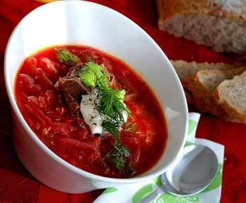 Красный борщ без болгарского перца