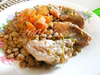 Мясо в вишневом соусе с чечевицей: рецепт с пошаговым фото