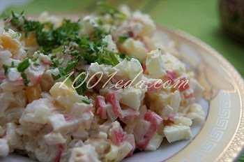 Нежный крабовый салат: рецепт с пошаговым фото
