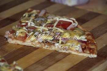 Пицца с ветчиной из готовых коржей: рецепт с пошаговым фото