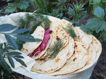 Пьядина (Piadina ) - итальянская лепешка: рецепт с пошаговым фото