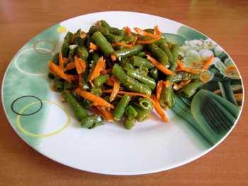 Салат из спаржевой фасоли по-корейски на зиму