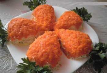 Салат «Мимоза» нежный