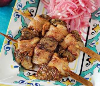 Шашлык из куриной печени по-японски