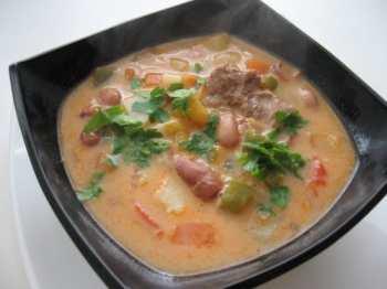 Суп из фасоли детский