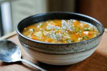 Суп с говядиной и тыквой в мультиварке