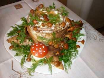 Вкусный салат «Пенек&#187