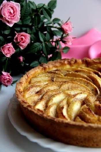 Яблочный тарт с маскарпоне