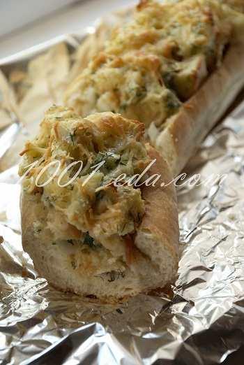 Запеченный багет на завтрак: рецепт с пошаговым фото