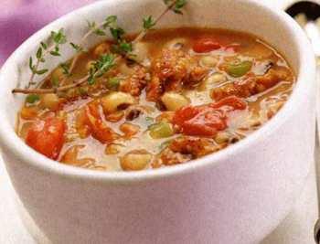 Итальянский овощной суп с вермишелью