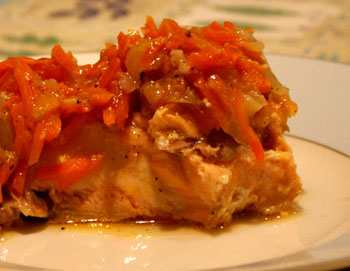 Индийское блюдо из рыбы - допейя