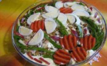 Салат из фруктов и овощей «Бухарест»