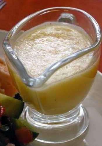 Соус из кефира и растительного масла